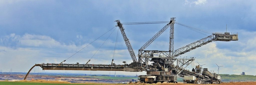 open pit mining, commodity, removal